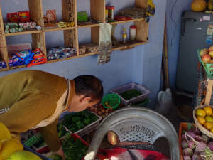 Vegetable seller and local products